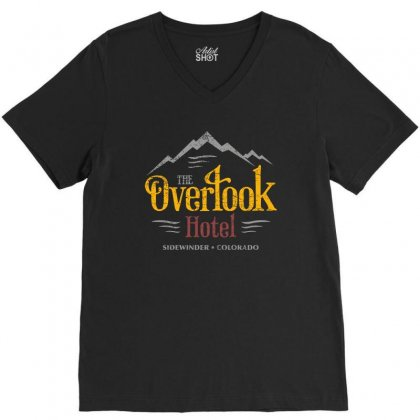 The Overlook Hotel V-neck Tee Designed By Frizidan
