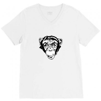 Monkey Business V-neck Tee Designed By Arum