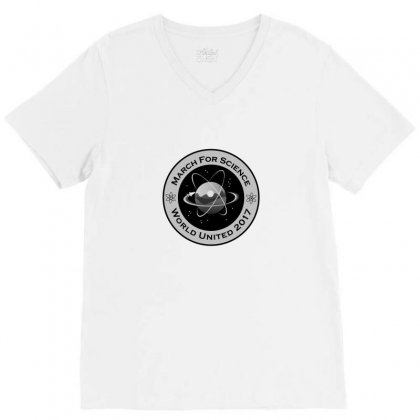 March For Science Astronaut V-neck Tee Designed By Arum