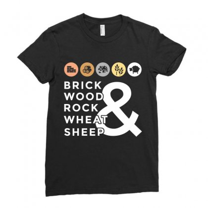 Brick Wood Rock Wheat Sheep Tshirt Ladies Fitted T-shirt Designed By Hung