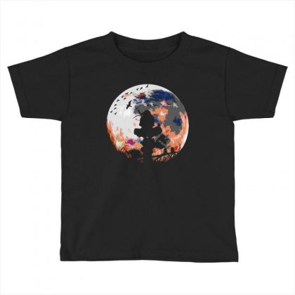 Fighter On The Moon Toddler T-shirt Designed By Frizidan