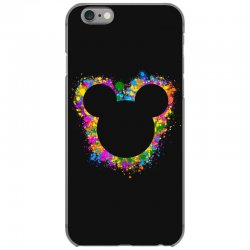 watercolor splash mickey iPhone 6/6s Case | Artistshot