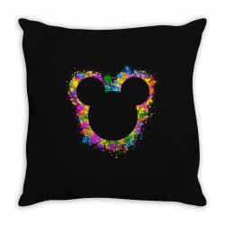watercolor splash mickey Throw Pillow | Artistshot