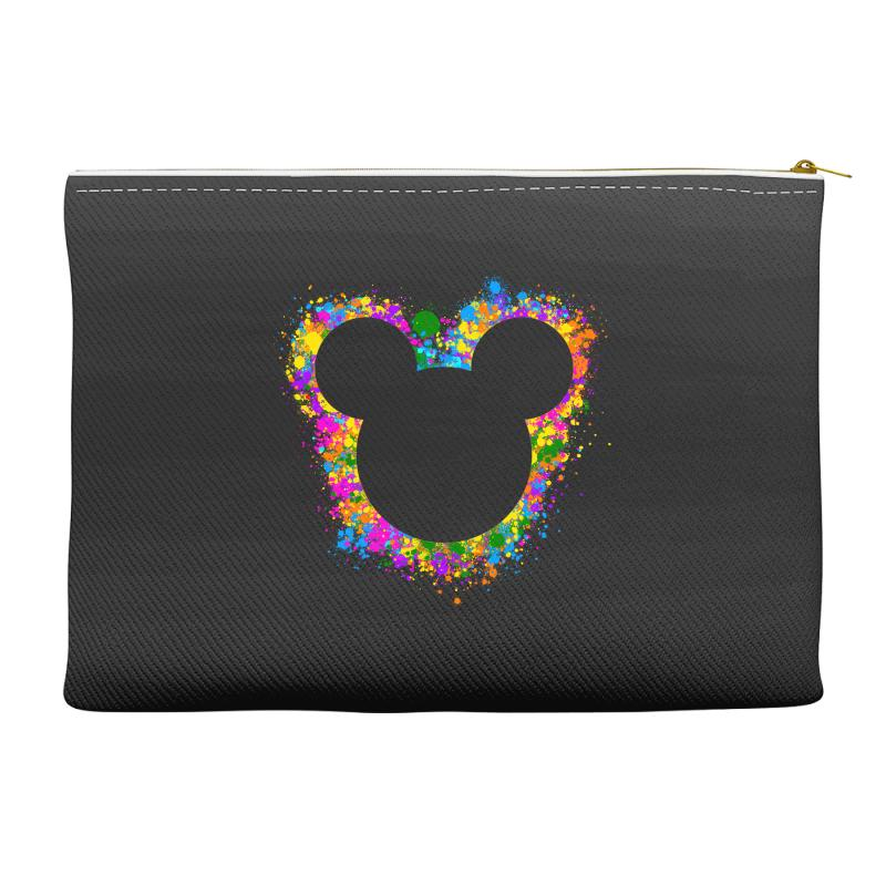 Watercolor Splash Mickey Accessory Pouches | Artistshot