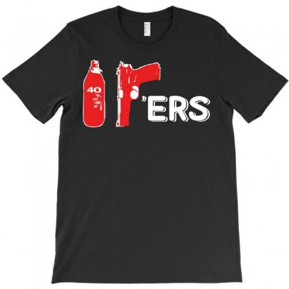 409 Ers 40oz 9mm T-shirt Designed By Silicaexil