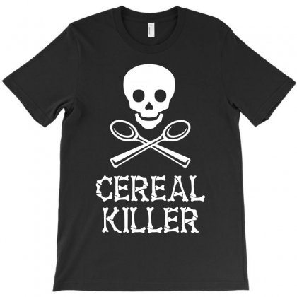 Cereal Killer Skull T-shirt Designed By Silicaexil
