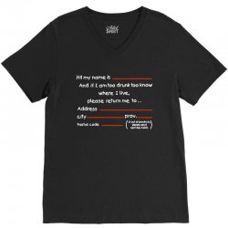 Drunk Address V-Neck Tee | Artistshot