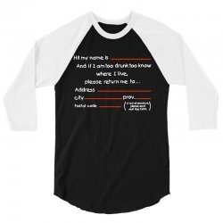 Drunk Address 3/4 Sleeve Shirt | Artistshot