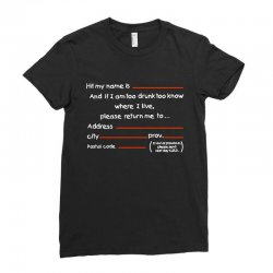 Drunk Address Ladies Fitted T-Shirt | Artistshot