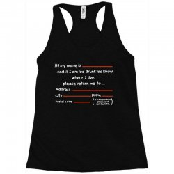 Drunk Address Racerback Tank | Artistshot