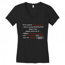 Drunk Address Women's V-Neck T-Shirt | Artistshot