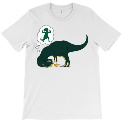 T Rex Lamp T-shirt Designed By Silicaexil