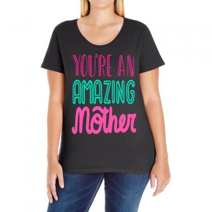 Amazing Mother Ladies Curvy T-shirt Designed By Frizidan