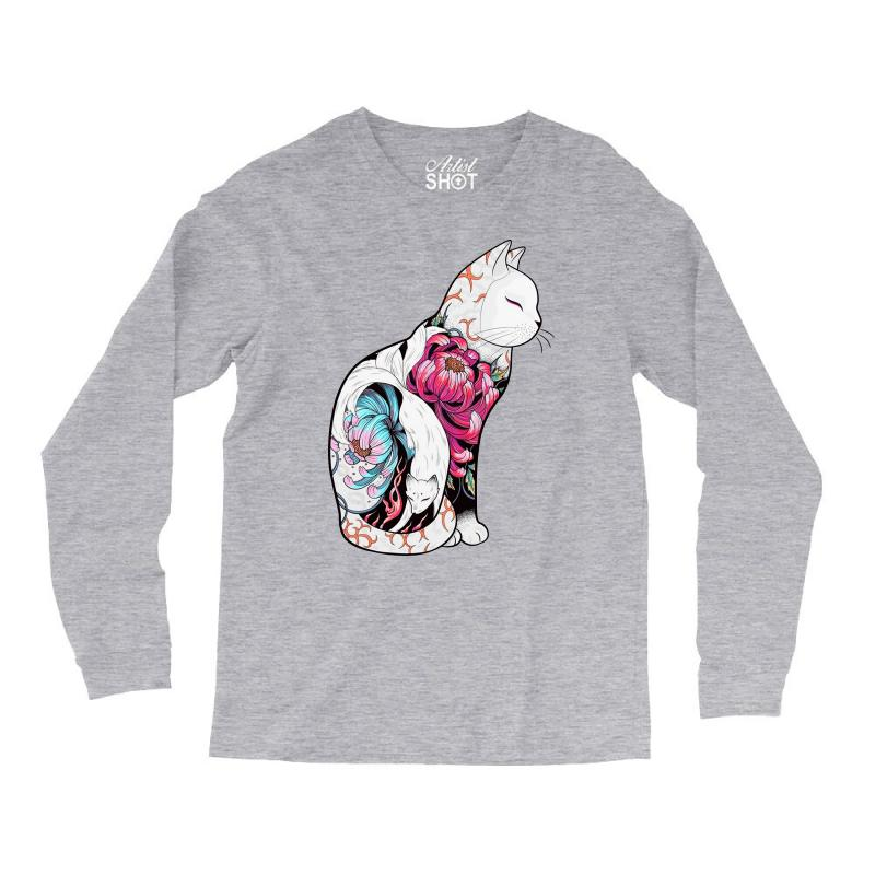 Custom Cat Tattoo Long Sleeve Shirts By Frizidan Artistshot