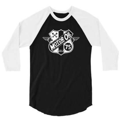 Motor Oil 3/4 Sleeve Shirt Designed By Tee Shop