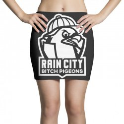 rain city bitch pigeons Mini Skirts | Artistshot