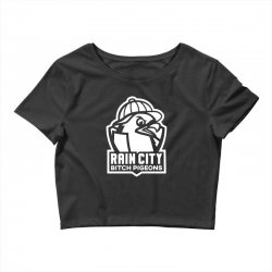 rain city bitch pigeons Crop Top | Artistshot