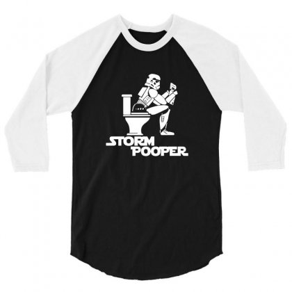 Storm Pooper 3/4 Sleeve Shirt Designed By Tee Shop