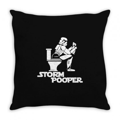 Storm Pooper Throw Pillow Designed By Tee Shop