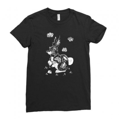 Zombie Bunny Ladies Fitted T-shirt Designed By Tee Shop