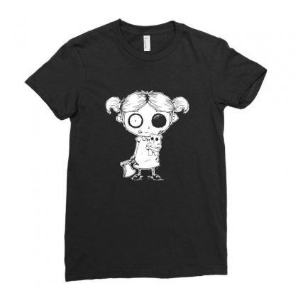Zombie Girl Ladies Fitted T-shirt Designed By Tee Shop