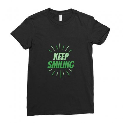 Keep Smiling Ladies Fitted T-shirt Designed By Basma200