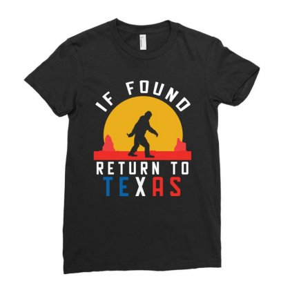 Bigfoot Return To Texas Ladies Fitted T-shirt Designed By Cogentprint