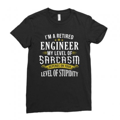Retired Engineering Gifts Ladies Fitted T-shirt Designed By Cogentprint