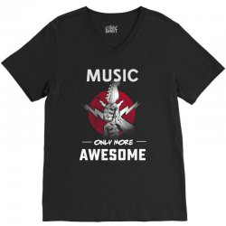 music only more Awesome V-Neck Tee | Artistshot