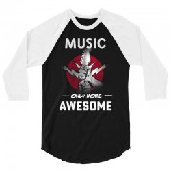 music only more Awesome 3/4 Sleeve Shirt | Artistshot