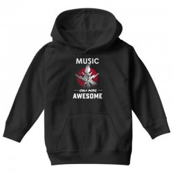 music only more Awesome Youth Hoodie | Artistshot