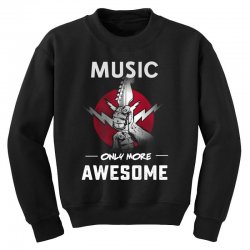 music only more Awesome Youth Sweatshirt | Artistshot