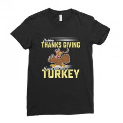 Holiday thanksgiving Turkey Ladies Fitted T-Shirt | Artistshot