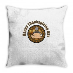 Happy Thanksgivings Day Throw Pillow Designed By Cogentprint