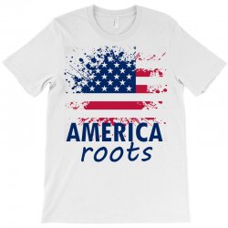 America Root T-shirt Designed By Cogentprint