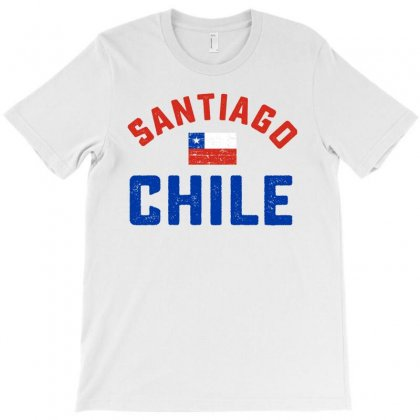 Chilean Flag Tee T-shirt Designed By Cogentprint