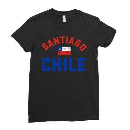 Chilean Flag Tee Ladies Fitted T-shirt Designed By Cogentprint