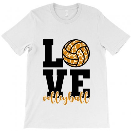 Love Volleyball T-shirt Designed By Nurbetulk