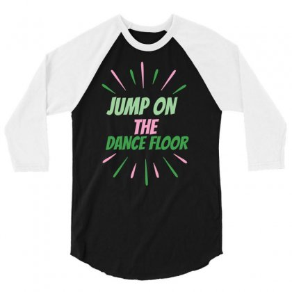 Dance Floor 3/4 Sleeve Shirt Designed By Basma200