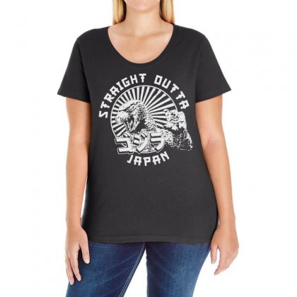 Straight Out Of Japan Ladies Curvy T-shirt Designed By Frizidan