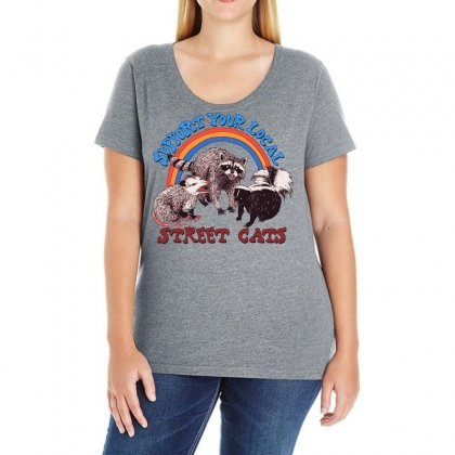 Street Cats Ladies Curvy T-shirt Designed By Frizidan