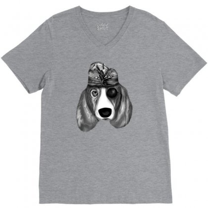 Balinese Dog V-neck Tee Designed By Lorex-ads