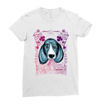 Sad Dog Ladies Fitted T-shirt Designed By Lorex-ads