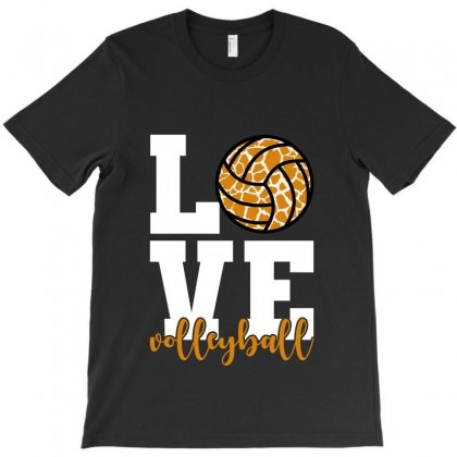 Love Volleyball For Dark T-shirt Designed By Hasret