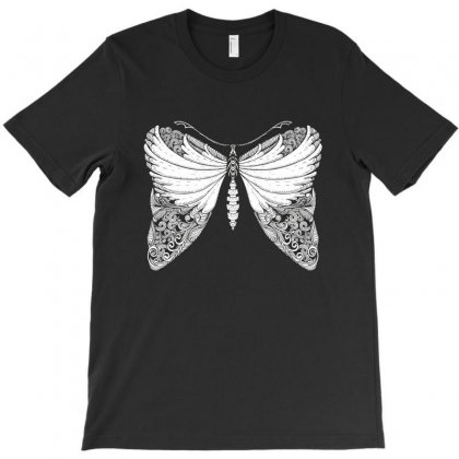 Butterfly Illustration T-shirt Designed By Zentura