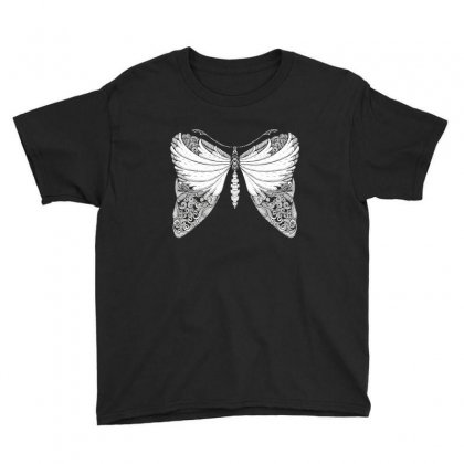 Butterfly Illustration Youth Tee Designed By Zentura