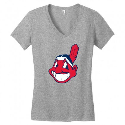Cleveland Indians Chief Wahoo Women's V-neck T-shirt