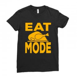 Eat Mode Ladies Fitted T-shirt Designed By Cogentprint