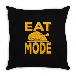eat mode Throw Pillow | Artistshot