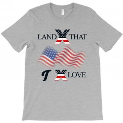 Usa Land That I Love T-shirt Designed By Cogentprint